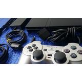 Consola Playstation 2, Ps2 Slim Con Chip Mas Juegos, Control