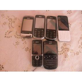 Lote De 6 Celulares Nokia Funcionando 100% Usados