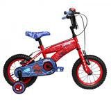 Bicicleta Lahsen Spiderman Aro 12 Roja - Envio Gratis