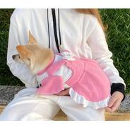Vestido Jardineira Rosa Bebê Para Pet - Roupas Para Cães