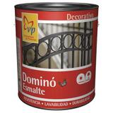 Pintura Domino Esmalte Satinado Negro 1 Galón Vp