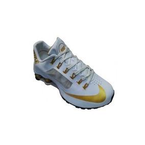 1a8591963a ... store tenis nike shox r4 superfly branco dourado original promoço 604bc  31574