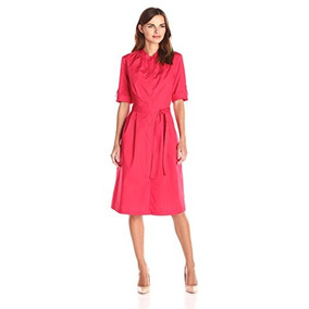 f25d4a43f Lark Y Ro Womens Elbowsleeve Popelina Midi Shirtdress