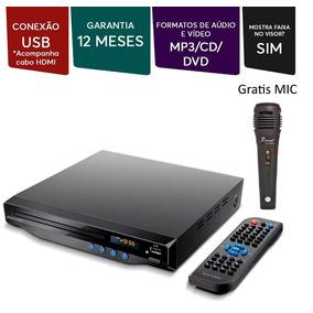 Dvd Player Saida Hdmi 5.1 Karaoke Usb + Microfone Multilaser