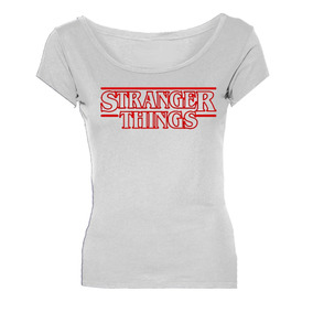 Remeras Stranger Things Logo Mujer *mr Korneforos*