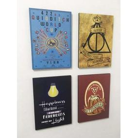 Combo 4 Cuadros Harry Potter E S (20x28 Cm C/u)