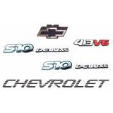 Kit Emblemas S10 Deluxe + 4.3 V6 + Faixa Preta - Até 2000