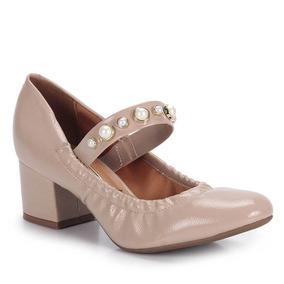 Sapato Boneca Salto Feminino Vizzano - Nude