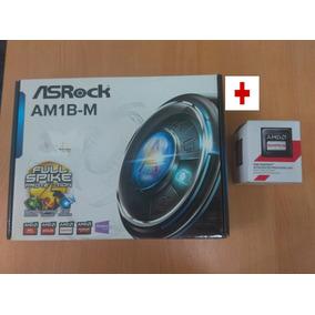 Combo Tarjeta Madre Asrock Am1b-m + Procesador Amd 2650