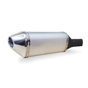 Escape Ponteira Alumínio Dore + Curva Inox - Xre 300 - Prata