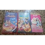Videos Infantiles X 3u. - Canta...,aladdin Y Barbie
