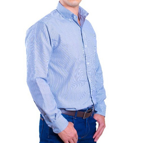 Camisa Mil Rayas De Hombre, Omme, Manga Larga