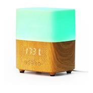 Umidificador E Difusor Aromatizador Som Bluetooth E Relógio