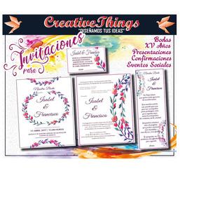 Invitaciones Boda. Kit Personalizado Para Imprimir