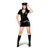 Fantasia Policial Preta Feminina Adulto - Heat Girls