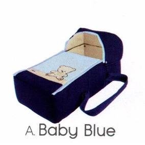 Bambineto Plegable + Colchon + Sabana De Cajon Baby Blue