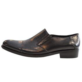 Zapato Vestir Hombre Cuero Sin Cordon Puntera Base Suela