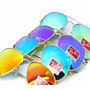Kit Com 5 Oculos De Sol Raiban Aviador Atacado Lente Cristal