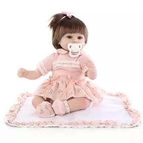 Boneca Realista Bebê Reborn Importada Barata Pequena Menina