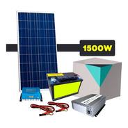 Kit Solar Con Inversor De 1500 Watts 220v Cortes De Luz