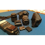 Canon Rebel T5 Con Dos Lentes, Flash Y Dos Baterias