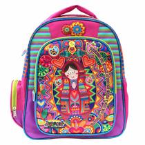 Mochila Back Pack Virgencita Para Niña De Primaria Ce124
