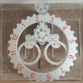 Relógio De Parede Engrenagens Grande Com Data Mês Diferente!
