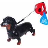 Guia Retrátil Coleira Cachorro 5m Porta Rolo + 3rolos Brinde