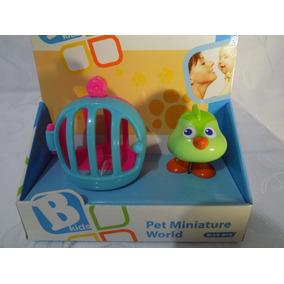 Casinha Animal Pet Miniatura Passaro Brinquedo Blue Box *