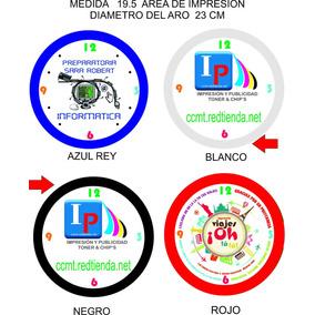 Reloj De Pared Promocional Con Tu Foto Favorita Y Etc