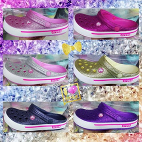 Sandalias Crocs Escarchadas Full