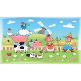 Painel Lona Festa 3,00x1,70mt Fazendinha Familia Da Fazenda