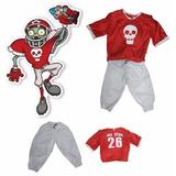 Disfraz Zombie C/ Musculos Soccer Futbol Plantas Vs Zombies
