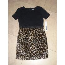 Vestido Niña Dkny Leopard Mediano Envio Gratis