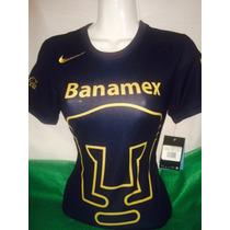 Jersey Pumas 2015 Dama Azul Nike Tallas Xs Originales