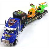Camion Gandola Plastico Con 2 Helicopteros Niños Juguete