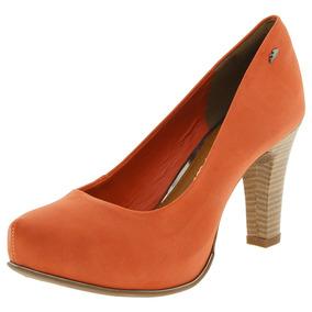Sapato Feminino Salto Alto Multi/laranja Dakota - B7891