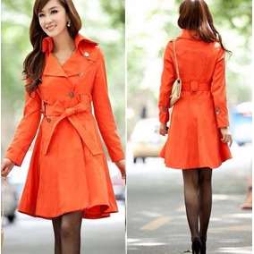 Oferta!!! Trench Color Naranja Exclusivo Importado