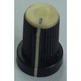 Knob / Botão Plástico Para Mesa De Som - Creme - Wattsom