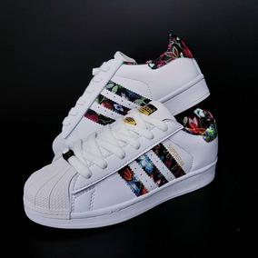 pretty nice 754cd 95f34 Tenis Zapatillas adidas Superstar Flores Mujer Envio Gratis