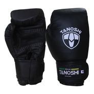 Luva De Boxe Preta Black Muaythai Sanda Kick Tanoshi