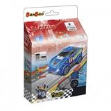 Blocos De Montar Race Club - Carro Racing Azul 22 Peças - Ba