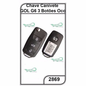 Chave Canivete Oco Vw Gol G6 3 Botoes Un. Cod. 2869
