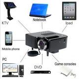 Mini Proyector 1080hp Led Tv Hdmi Uc28+ Black