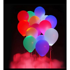 50 Globos Con Led, Luminosos, Fiesta Bodas Xv, Eventos