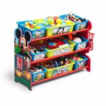 Organizador De Juguetes Juguetero Deluxe Mickey Mouse Plasti