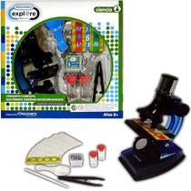 Microscópio Luz Discovery Original + Accesorios Ciencia Niño