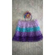 Falda En Hermoso Diseño En Capas De Tul A Juego Con Diadema