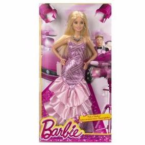 Barbie Rosa Y Fabulosa Vestida Rosa Metalico