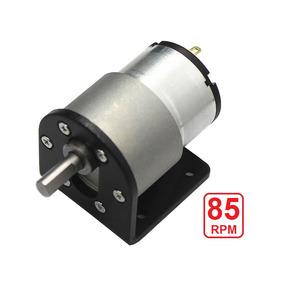 Micro Motor Redutor 12v Dc 85rpm Com Suporte